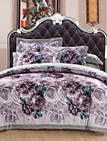 cheap -Duvet Cover Sets Floral 100% Cotton Cotton Jacquard Jacquard 4 Piece