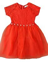 cheap -Kids / Toddler Girls' Solid Colored Sleeveless Dress