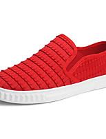 Недорогие -Муж. обувь Тюль Осень Удобная обувь Мокасины и Свитер Белый / Черный / Красный