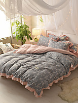 cheap -Duvet Cover Sets Floral / Contemporary Polyster Reactive Print 4 Piece