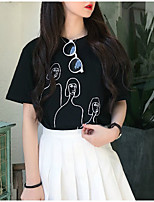 economico -T-shirt Per donna Romantico Fantasia geometrica