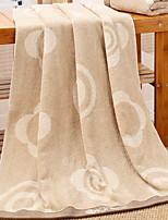 abordables -Qualité supérieure Serviette de bain, Géométrique 100% Coton 1 pcs