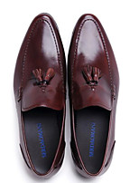 cheap -Men's Shoes Nappa Leather / Cowhide Spring Comfort Loafers & Slip-Ons Black / Brown