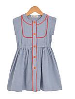 cheap -Kids Girls' Check Short Sleeve Dress