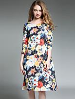 cheap -SHIHUATANG Women's Boho / Street chic Shift Dress - Floral Print