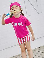cheap -SABOLAY Girls' Dive Skin Suit Detachable Cap, Comfortable Polyester / Spandex / Chinlon Sleeveless Swimwear Beach Wear Swimwear Swimming