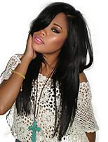 preiswerte -Remi-Haar Spitzenfront Perücke Brasilianisches Haar Glatt 130% Dichte Mit Babyhaar / Mit gebleichten Knoten / Unverarbeitet Natürlich