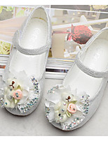 cheap -Girls' Shoes Tulle Spring Comfort / Flower Girl Shoes Flats for White / Pink