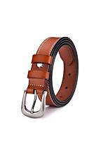 cheap -Women's Active Basic Leather Waist Belt - Solid Colored