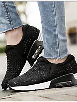 Недорогие -Жен. Обувь Полотно Весна Удобная обувь Кеды На плоской подошве Черный