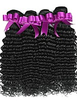 cheap -Peruvian Hair Curly Natural Color Hair Weaves / Human Hair Extensions 4 Bundles Human Hair Weaves Best Quality / New Arrival / For Black Women Natural Black Human Hair Extensions Women's