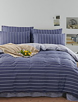 cheap -Duvet Cover Sets Stripes / Ripples 100% Cotton Reactive Print 4 Piece