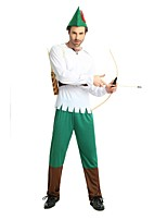 cheap -Elf / More Costumes Outfits Men's Halloween / Carnival / Day of the Dead Festival / Holiday Halloween Costumes White Solid Colored /