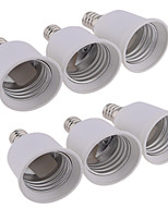 cheap -6pcs E12 to E27 E26 / E27 Bulb Accessory Light Socket ABS+PC