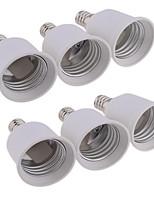 abordables -6pcs E12 à E27 E26 / E27 Accessoire d'ampoule Prise de lumière ABS + PC