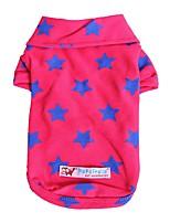 baratos -Cachorros / Gatos / Animais de Estimação Camisetas Roupas para Cães Estrelas / Frases e Citações Amarelo / Vermelho / Azul Algodão