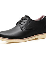 cheap -Men's Shoes Cowhide Winter Comfort Oxfords Black / Light Brown / Burgundy