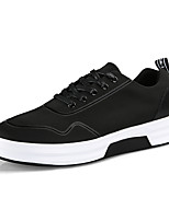 cheap -Men's Shoes Fabric Spring / Fall Light Soles Sneakers Black / Silver / Black / White