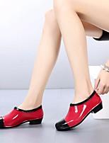 Недорогие -Жен. Обувь КожаПВХ Весна Резиновые сапоги Ботинки На низком каблуке Красный / Хаки