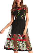 cheap -TS - Dreamy Land Women's a line dress - floral knee-length