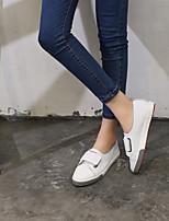 Недорогие -Жен. Обувь Кожа Весна лето Удобная обувь Кеды На плоской подошве Белый