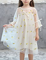 abordables -Enfants Fille Ananas Fruit Manches 3/4 Robe
