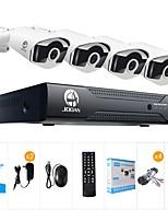 abordables -jooan® 8ch 1080n dvr 4x720p pro hd-tvi intérieur / extérieur ip66 étanche bullet caméras avec ir vision nocturne leds maison vidéosurveillance kits