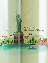 Недорогие -Оконная пленка и наклейки Украшение Панорама города Города ПВХ Творчество