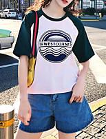 economico -T-shirt Per donna Essenziale Con stampe, Monocolore / Alfabetico