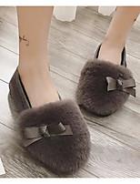cheap -Women's Shoes Flocking Winter Comfort Slippers & Flip-Flops Flat Heel Black / Gray / Army Green