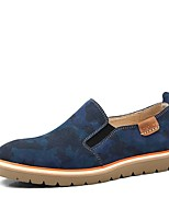 cheap -Men's Shoes Leather Spring Summer Comfort Loafers & Slip-Ons for Casual Brown Green Blue