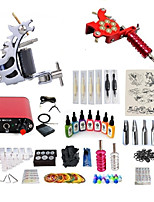 cheap -Tattoo Machine Starter Kit - 2 pcs Tattoo Machines with 7 x 15 ml tattoo inks, Professional, Kits Mini power supply Case Not Included 2 alloy machine liner & shader