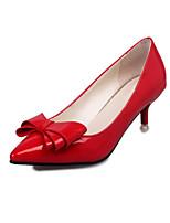 baratos -Mulheres Sapatos Couro Ecológico Outono Conforto / Inovador Saltos Salto Agulha Dedo Apontado Roxo / Vermelho / Rosa claro