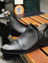 Недорогие -Муж. обувь Искусственное волокно Осень Удобная обувь Мокасины и Свитер Черный Синий