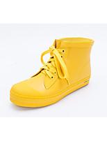 cheap -Women's Shoes Latex Fall Rain Boots Boots Low Heel Yellow