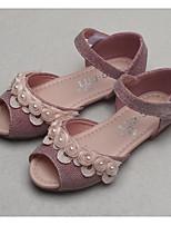 Недорогие -Девочки Обувь Полиуретан Лето Удобная обувь Сандалии для Серебряный / Розовый