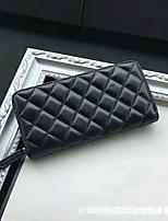 cheap -Women's Bags PU Wallet Zipper for Outdoor Black