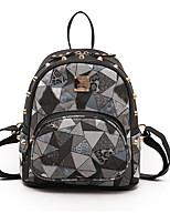 cheap -Women's Bags PU(Polyurethane) Backpack Rivet Black