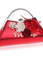 cheap -Women's Bags Pearl / Polyester Evening Bag Pearls / Flower for Wedding / Event / Party Black / Silver / Red
