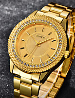cheap -Women's Wrist Watch Chinese Imitation Diamond / Cool Stainless Steel Band Luxury / Casual Gold