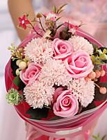 preiswerte -Künstliche Blumen 1 Ast Hochzeitsblumen Nelken Tisch-Blumen