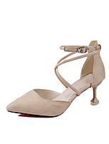 baratos -Mulheres Sapatos TPU Verão Chanel / Plataforma Básica Saltos Salto Sabrina Dedo Apontado Preto / Bege / Rosa claro / Casamento