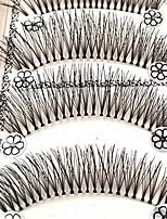 Недорогие -Глаза 1 Расширенный / Натуральный / Кудрявый Повседневный макияж Ленточные накладные ресницы / Натуральная длина Макияж Профессиональный