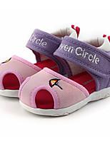 Недорогие -Мальчики / Девочки Обувь Тюль Лето Обувь для малышей Сандалии для Дети (1-4 лет) Светло-красный / Розовый / Розовый и белый