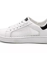 cheap -Men's Shoes Tulle / PU Summer Comfort Sneakers White / Black / White