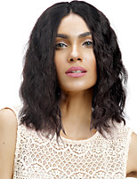 Недорогие -Remy Полностью ленточные Парик Бразильские волосы Естественные волны Парик Короткий Боб / Средняя часть 130% Природные волосы / С отбеленными узлами Жен. Короткие