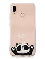 Недорогие -Кейс для Назначение Huawei P20 Pro / P10 Plus Прозрачный / С узором Кейс на заднюю панель Панда Мягкий ТПУ для Huawei P20 lite / Huawei
