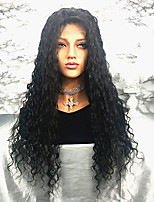 cheap -Remy Human Hair Wig Brazilian Hair Curly 150% Density 100% Virgin Long Women's Human Hair Lace Wig