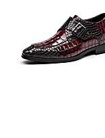Недорогие -Муж. обувь Наппа Leather / Кожа Весна Удобная обувь Мокасины и Свитер Черный / Красный