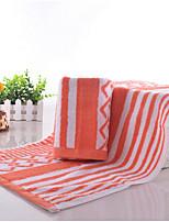 abordables -Qualité supérieure Serviette, Rayé Polyester / Coton Salle de  Bain